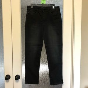 Black stretch straight fit jeans